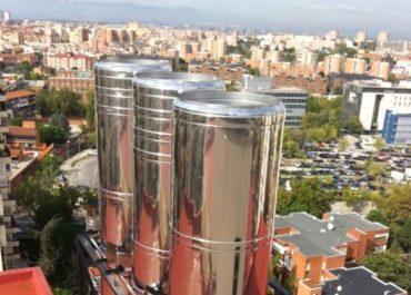 Trabajos de chimeneas verticales de extracción